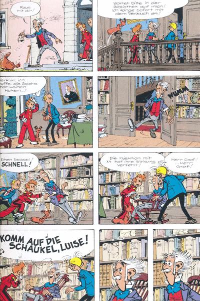 Leseprobe 1 von Spirou & Fantasio Gesamtausgabe, Band 4 - Moderne Abenteuer