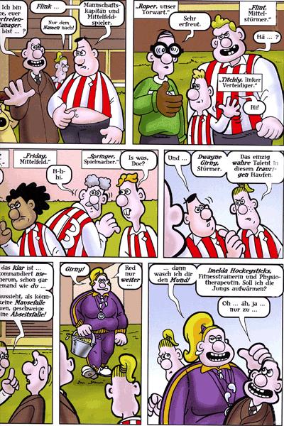 Leseprobe von Wallace & Gromit, Band 1 - Fussballfieber