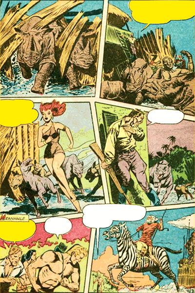 Leseprobe 1 von KAÄNGA (Jungle Comics), Band 2 - Die Teufelskatzen von Salome