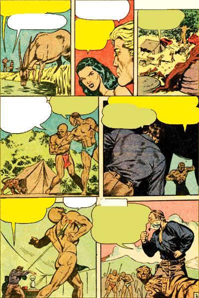 Leseprobe 1 von KAÄNGA (Jungle Comics), Band 3 - Die Blutspur des gesichtslosen Monsters