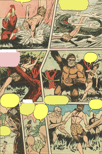 Leseprobe 2 von KAÄNGA (Jungle Comics), Band 3 - Die Blutspur des gesichtslosen Monsters