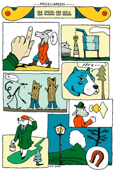 Leseprobe 2 von KASKADE comic, Einzelband - Stufenartige Eseleien im Bilderschwall