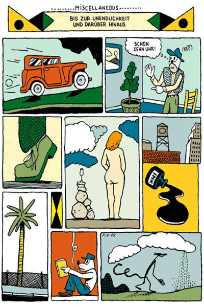 Leseprobe 3 von KASKADE comic, Einzelband - Stufenartige Eseleien im Bilderschwall