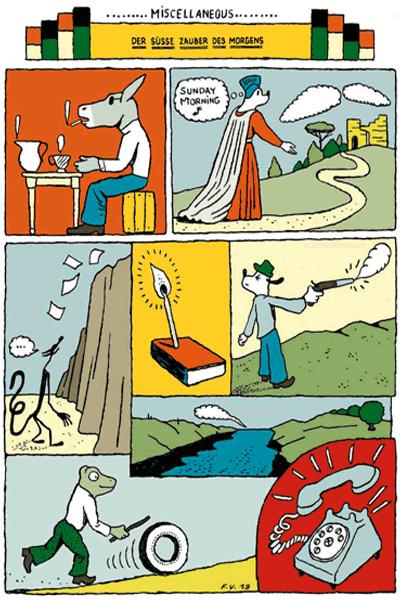 Leseprobe 6 von KASKADE comic, Einzelband - Stufenartige Eseleien im Bilderschwall