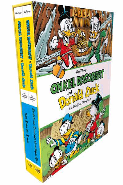 Leseprobe 1 von Onkel Dagobert und Donald Duck - Don Rosa Library | Bibliothek, Schuber | Band 1 + 2 - Der Sohn der Sonne | Zurück ins Land der viereckigen Eier