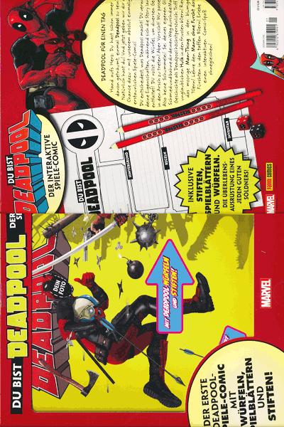 Leseprobe von DEADPOOL Abenteuer | Du bist Deadpool, Einzelband - Spiel-Comic mit Deadpool-Würfeln