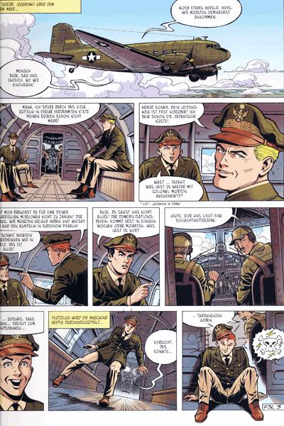 Leseprobe 1 von Die neuen Abenteuer von Buck Danny, Band 3 - Die Geister der aufgehenden Sonne