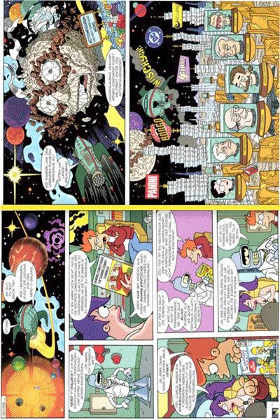 Leseprobe 3 von Die Simpsons Futurama Crossover Krise, Einzelband - Was man im Hirn hat