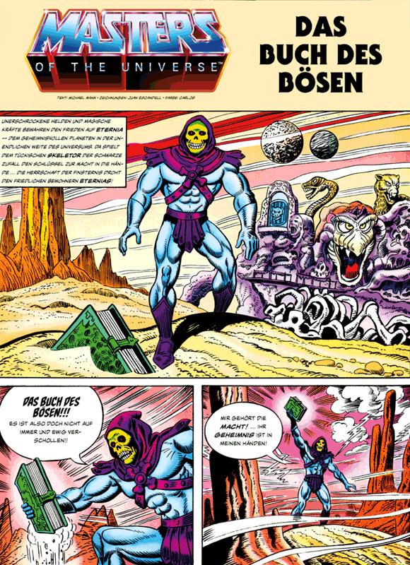 Leseprobe 1 von MASTERS of the UNIVERSE [gesamtausgabe ehapa 80er], Band 1 - Das Buch des Bösen [He-Man, Skeletor, Evil-Lyn, Orko, Hordak]