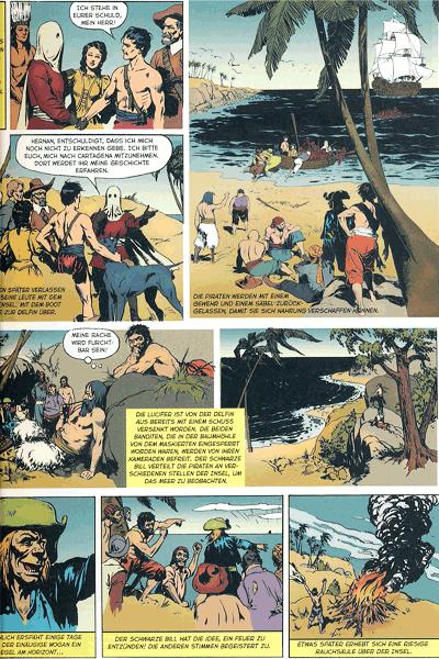 Leseprobe 4 von HERNAN der Korsar, Einzelband - Bildschriften Klassiker