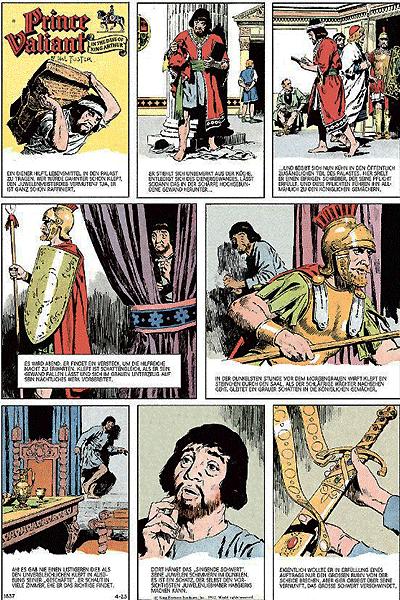 Leseprobe 1 von Prinz Eisenherz - Die Hal Foster & Murphy - Jahre, Band 4 - Jahrgang 1977, 1978
