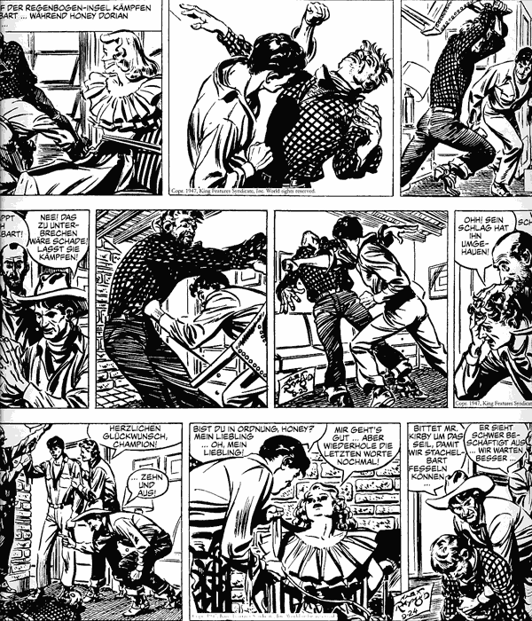 Leseprobe 1 von RIP KIRBY [Alex Raymond] [comic Gesamtausgabe], Band 2 - Comicstrips von 1947 - 1948