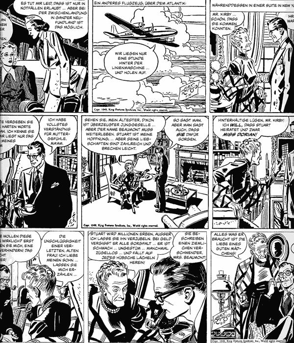 Leseprobe 1 von RIP KIRBY [schwarzweiß] [comicfinten], Band 3 - Comicstrips (1948-1950)