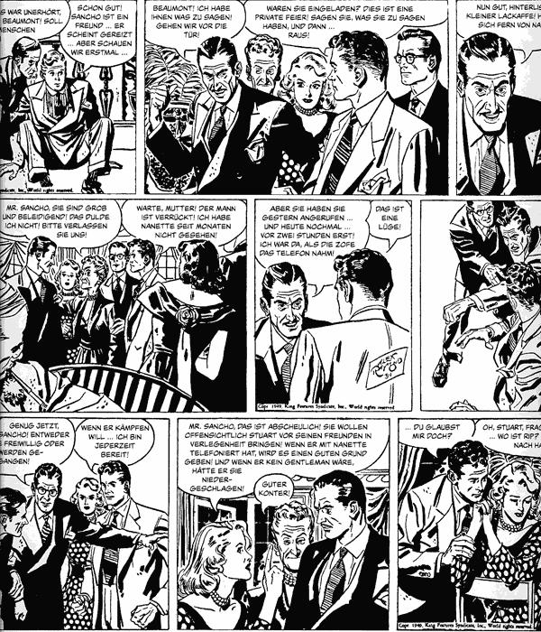 Leseprobe 2 von RIP KIRBY [schwarzweiß] [comicfinten], Band 3 - Comicstrips (1948-1950)