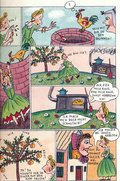 Leseprobe von Rotraut Susanne Berners Märchencomics, Einzelband -