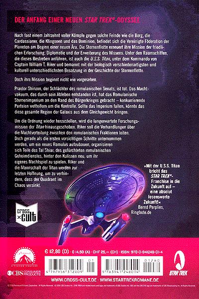 Leseprobe von Star Trek TITAN, Band 1 - Eine neue Ära
