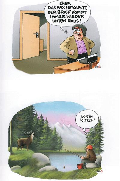 Leseprobe von Durchgewischt, Carton - Cartoons + Comics