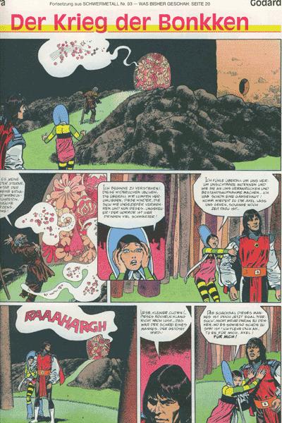 Leseprobe von Schwermetall, Band 94 - Druuna,  Die Vagabunden der Unendl.,  Die Frau des Magiers