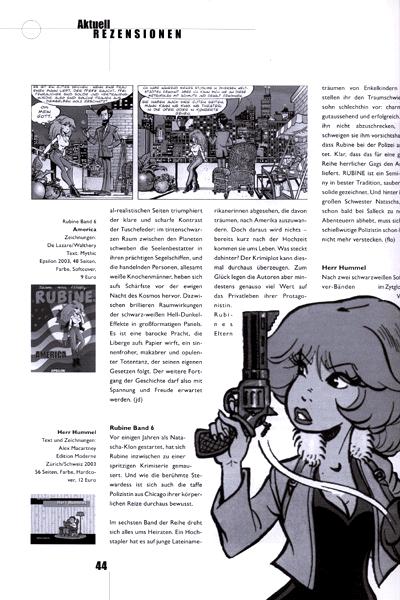 Leseprobe von XOOMIC, Band 6 - Comicfachzeitschrift
